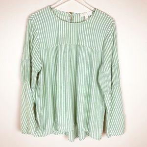 MICHAEL KORS   Long Sleeved Striped Blouse